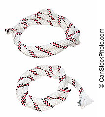 rope isolated on white, rope knot