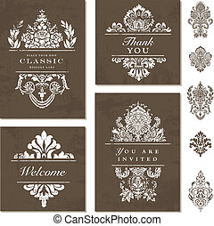 Vector Ornate Frame Set - Easy to edit. Perfect for...