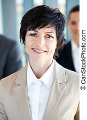 mid age businesswoman closeup portrait