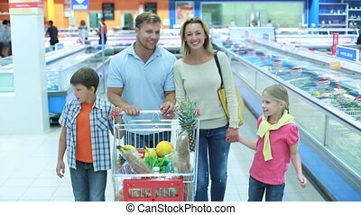 Family weekend - Family of four spending a shopping weekend...