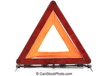 Warning sign triangle on a white background