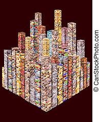 skyscrapers - Skyscrapers of precious stones