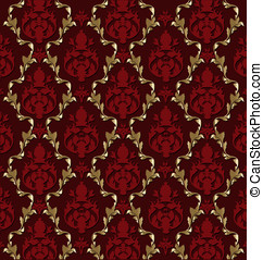 Luxurious vector brocade pattern/t - Vector design of...