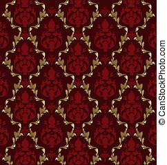 Luxurious vector brocade pattern/t - Vector design of...