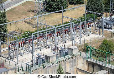 Electric power plant - Power plant of and hydroelectric dam...