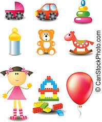 Vector toy icons collection
