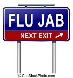 Flu alert concept. - Illustration depicting a roadsign with...