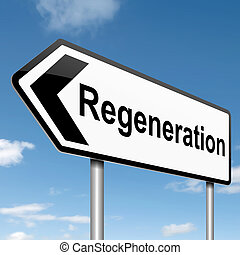 Regeneration concept. - Illustration depicting a roadsign...