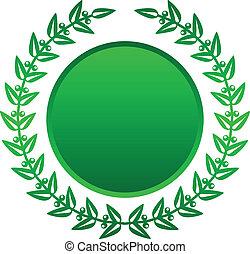 דפנה, וקטור, ירוק, דוגמה