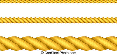Vector illustration of gold ropes