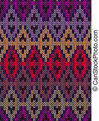 Fabric color tracery background - Knit woolen seamless...