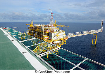 The oil rig - The oil rig in the gulf of Thailand