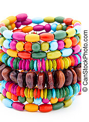 Bracelets - Colorful fashion bracelets on a white background