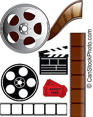 Film and Movie Icon Set - Collection of various film...