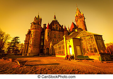 Moszna  castle in  Poland