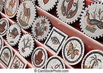 Tunisian stone mosaics