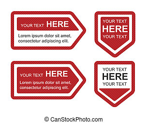 Set of Four Red Bookmarks - Set of 4 red bookmarks in...