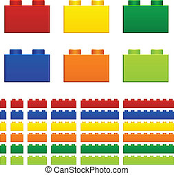 vector children plastic bricks toy