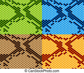 vector snake skin seamless wallpaper