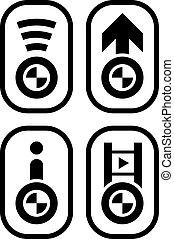 vector bmw spirit design navigation buttons