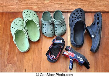Shoes of different sizes - Shoes and sandals of different...