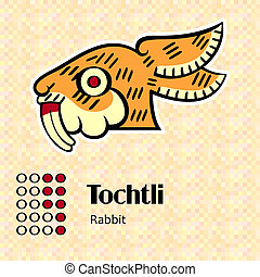 Aztec symbol Tochtli - Aztec calendar symbols - Tochtli or...
