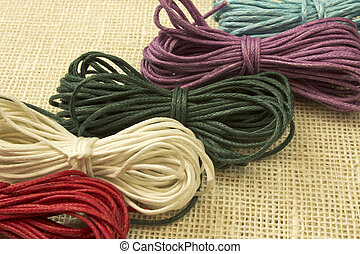 set of ropes - fine image of ropes with five diferent colors