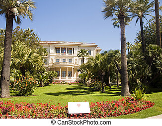 Musee Museum Massena with flower garden The French Riviera...