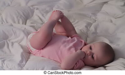 Happy Baby Girl Playing