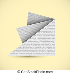 Origami paper vector background