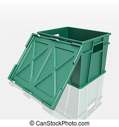 open plastic container with a lid - open plastic container...