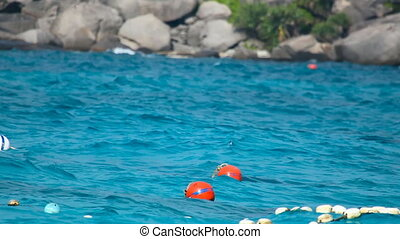 Floating Buoy - Floating Buoy On Open Sea