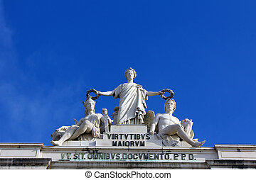Commerce Square, Lisbon, Portugal - The Commerce Square is...