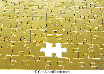 gold puzzle for background
