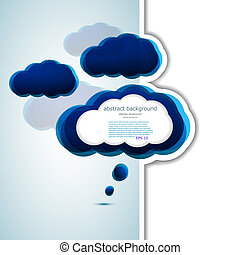 Vector cloud design element with place for your text. Eps 10