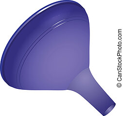 Household plastic funnel