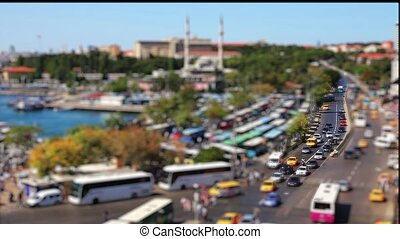 bus station - miniature effect bus station time lapse