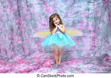 Ballerina Fairy - Ballerina wearing an aqua tutu and fairy...