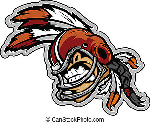 Graphic Vector Sports Illustration of a Snarling American...