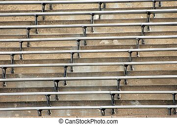 Bleachers - Background image of metal bleachers at sports...