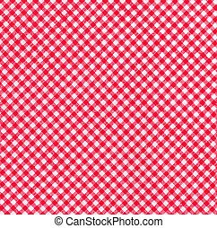 Red and white tablecloth picnic fabric