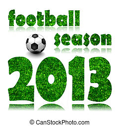Football 2013 on a White Background