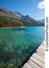 Glacier National Park,Montana - Josephine Lake in Glacier...