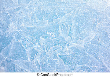 Ice texture - Texture of ice of Baikal lake in Siberia