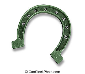 Lucky Horseshoe - A metal horseshoe with punched out...
