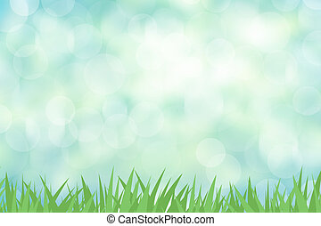 Green grass with color abstract background
