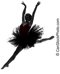 jovem, mulher, bailarina, balé, dançarino,...
