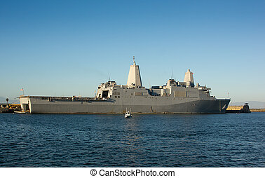 Amphibious Transport Dock - USS New Orleans - Naval Ship USS...