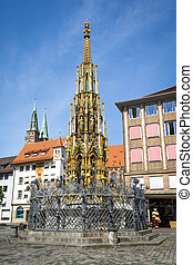 nuremberg fountain - An image of a nice fountain in...