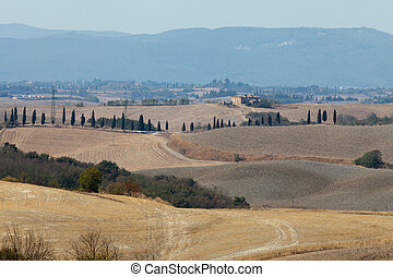 Crete Senesi - The landscape of the Tuscany Italy